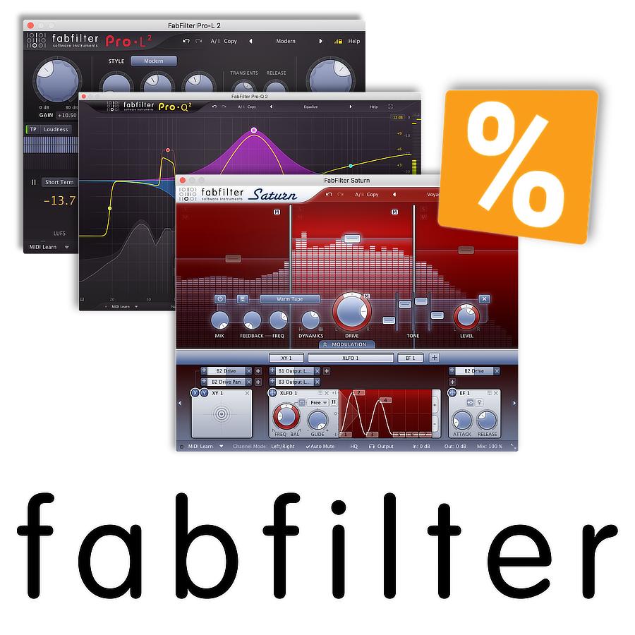 Fabfilter Sale - bis zu 51% Discount - noch bis 25.11.2018