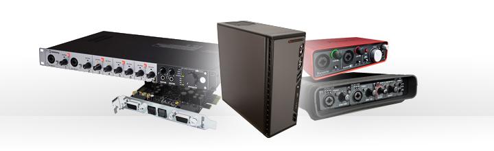 Audioworkstation Extreme64 mit verschiedenen Audio-Interfaces