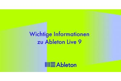 Ableton Live 9 ist nicht macOS 10.15 kompatibel