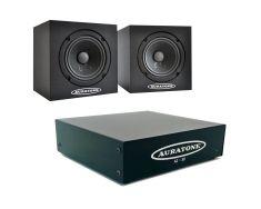 Auratone 5C black Paar  A2-30 Amp Bundle-0