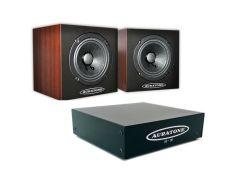 Auratone 5C wood Paar  A2-30 Amp Bundle-0